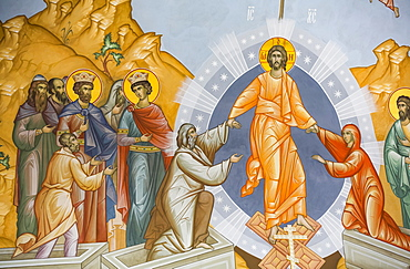Fresco, Troitse-Sergiyev Varnitskiy Monastery, near Rostov Veliky, Golden Ring; Yaroslavl Oblast, Russia