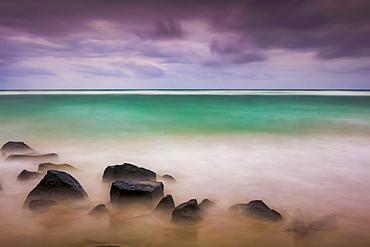 Sunrise over Lydgate beach and ocean; Kapaa, Kauai, Hawaii, United States of America