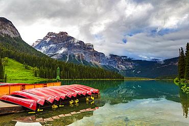 Emerald Lake and the Natural Bridge, Yoho National Park; British Columbia, Canada