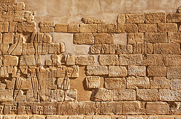 Bas-reliefs on the exterior of Apedemak Lion Temple; Musawwarat es-Sufra; Northern State, Sudan