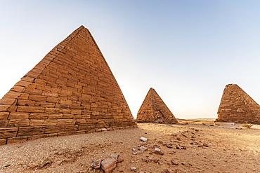 Field of Kushite royal pyramids, Mount Jebel Barkal; Karima, Northern State, Sudan