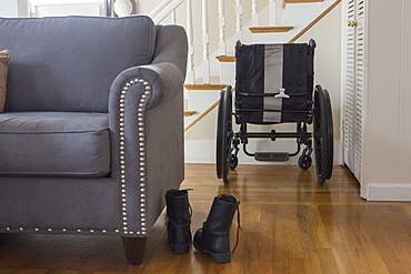 Wheelchair and shoes