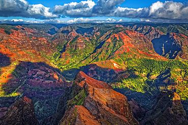 View from Waimea Canyon Lookout, Waimea Canyon State Park; Kauai, Hawaii, United States of America