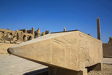 Fallen Obelisk of Hatshepsut, Karnak Temple Complex, UNESCO World Heritage Site; Luxor, Egypt