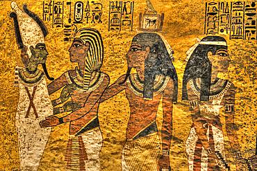 Greeting King Tut (Middle), Tomb of Tutankhamun, KV #62, Valley of the Kings, UNESCO World Heritage Site; Luxor, Egypt