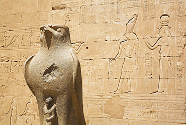 Statue of Falcon, Front of First Pylon, Temple of Horus; Edfu, Egypt