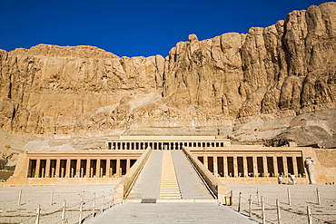 Hatshepsut Mortuary Temple (Deir el-Bahri), UNESCO World Heritage Site, Theban Necropolis; Luxor, Egypt