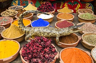 Spices for Sale, Sharia el Souk (Bazaar); Aswan, Egypt