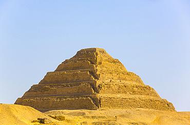 Djoser's Step Pyramid, Step Pyramid Complex, UNESCO World Heritage Site; Saqqara, Egypt