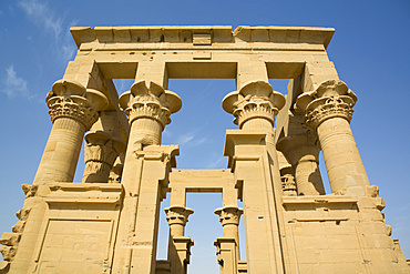 Kiosk of Trajan, Temple of Isis, UNESCO World Heritage Site; Philae Island, Aswan, Egypt