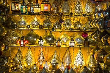 Lights for sale, Khan al-Khalili Bazaar; Cairo, Egypt
