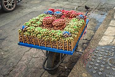 Macadamia nuts for sale in the street; San Cristobal de las Casas, Chiapas, Mexico