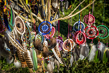 Dream catchers for sale; Bonampak, Usumacinta Province, Chiapas, Mexico