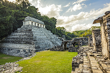 Temple of the Count ruins of the Maya city of Palenque; Chiapas, Mexico