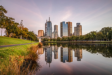 Sunrise along the Yarra River; Melbourne, Victoria, Australia