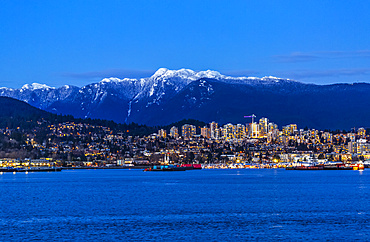 Vancouver at twilight; Vancouver, British Columbia, Canada