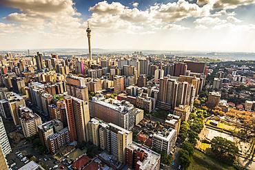 View over Johannesburg from Hillbrow; Hillbrow, Johannesburg, Gauteng, South Africa