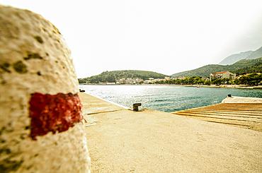 Empty jetty in a Croatian town; Drvenik, Dalmatia, Croatia