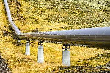 Pipeline on a hillside; Iceland