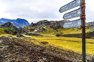 Hiking trails in Southern Iceland; Grimsnes- og Grafningshreppur, Southern Region, Iceland