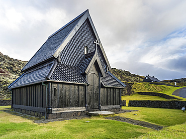 Church in a town on the island of Heimaey, in an archipelago off the South coast of Iceland; Vestmannaeyjar, Southern Region, Iceland