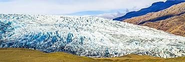 Hoffellsjokull glacier, Vatnajokull National Park; Hornafjordur, Eastern Region, Iceland