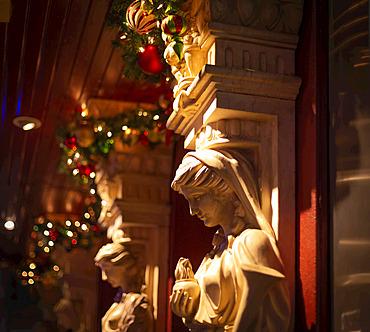 Christmas decorations in Manhattan; New York City, New York, United States of America