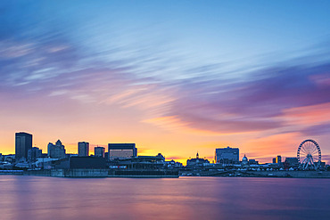 Sunset over Montreal; Montreal, Quebec, Canada