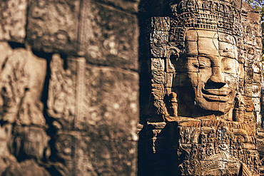 Bayon Temple in the Angkor Wat complex; Siem Reap, Cambodia