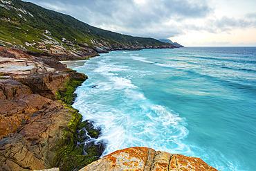 Coastline with turquoise water; Arraial do Cabo, Rio De Janeiro, Brazil