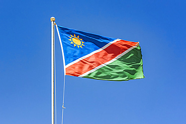 Flag of Namibia, Etosha National Park; Namibia