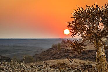Sunrise at Hardap Resort; Hardap Region, Namibia