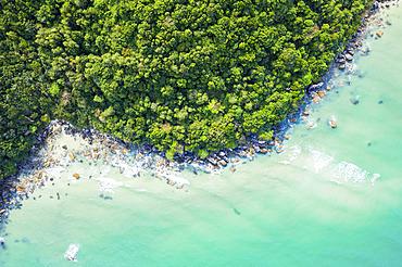 Drone view, Sao Beach; Phu Quoc, Kien Giang Province, Vietnam