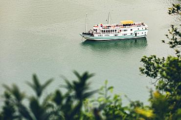 Ha Long Bay with tour boat; Quang Ninh Province, Vietnam