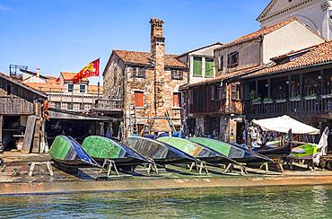Gondola repair shop; Venice, Italy
