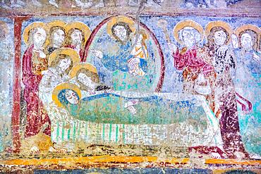 Fresco, Malancrav Fortified Church, 14th Century, Malancrav, Sibiu County, Romania