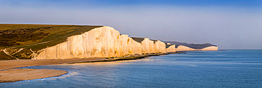 Seven Sisters, chalk cliffs in the English Channel; Sussex, England