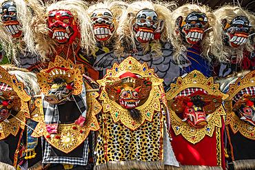 Masks for sale; Sempidi, Bali, Indonesia
