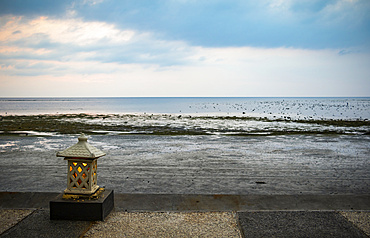 Beachfront of Nugraha Lovina Resort; Lovina, Bali, Indonesia