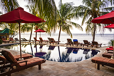 Swimming pool at a resort; Amed, Bali, Indonesia
