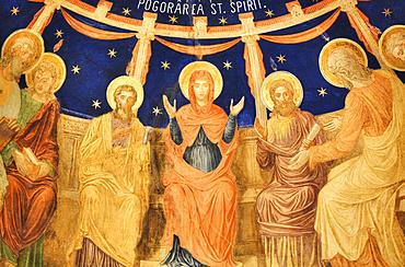 Interior Fresco, St George Church Mirauti, 1375; Suceava, Suceava County, Romania
