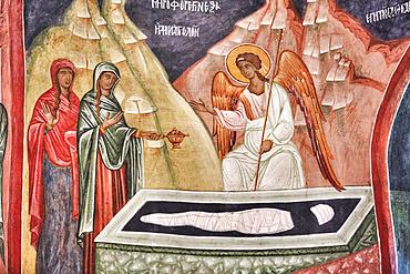 Interior fresco, Church of the Holy Cross, 1487; Patrauti, Suceava County, Romania