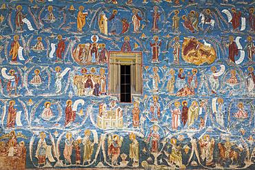 Exterior frescoes, 'Tree of Jesse', Voronet Monastery, 1487; Gura Humorului, Suceava County, Romania