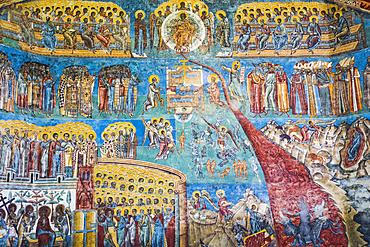 Exterior frescoes, 'Last Judgement', Voronet Monastery, 1487; Gura Humorului, Suceava County, Romania