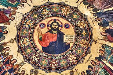Fresco, Holy Trinity Cathedral, founded in 1902; Sibiu, Transylvania Region, Romania
