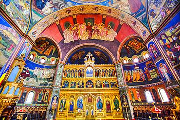 Frescoes, Holy Trinity Cathedral, founded in 1902; Sibiu, Transylvania Region, Romania
