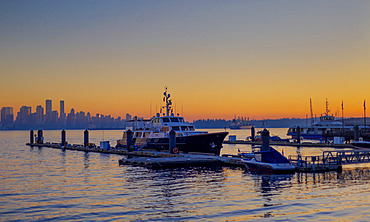 Sunset at Lonsdale Quay; North Vancouver, British Columbia, Canada