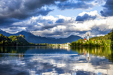 The Church on the Island (The Church of the Assumption) in Bled, Slovenia; Bled, Slovenia