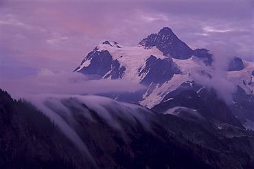 Mount Shuksan and Clouds, Washington, USA
