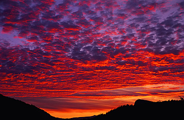 Clouds in Sky at Sunset, Fulford Harbour, Salt Spring Island, British Columbia, Canada